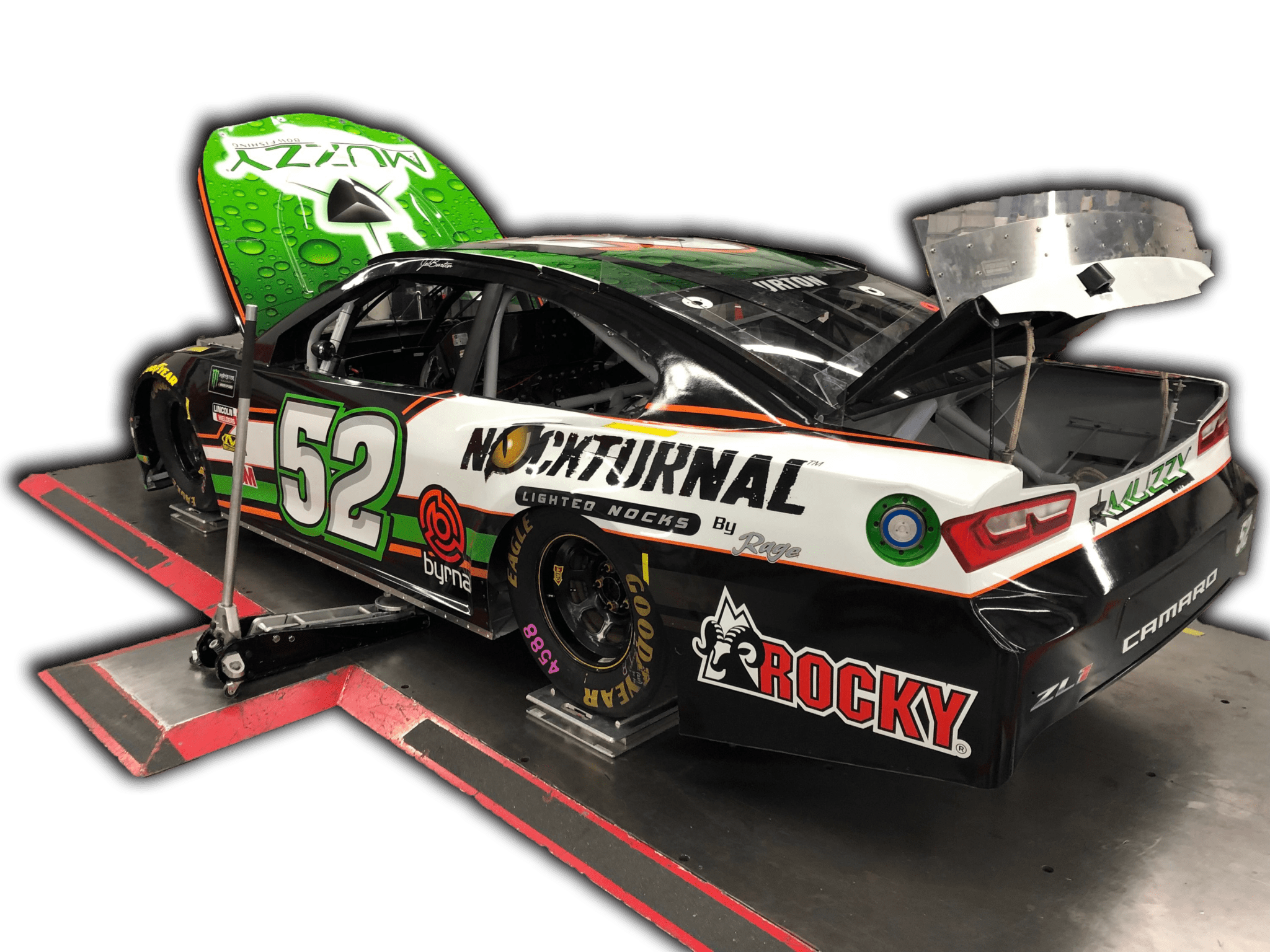 Race Car with Sponsorships