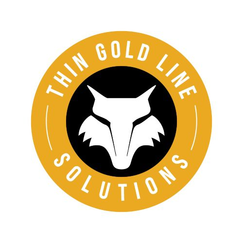 thin gold line solutions logo