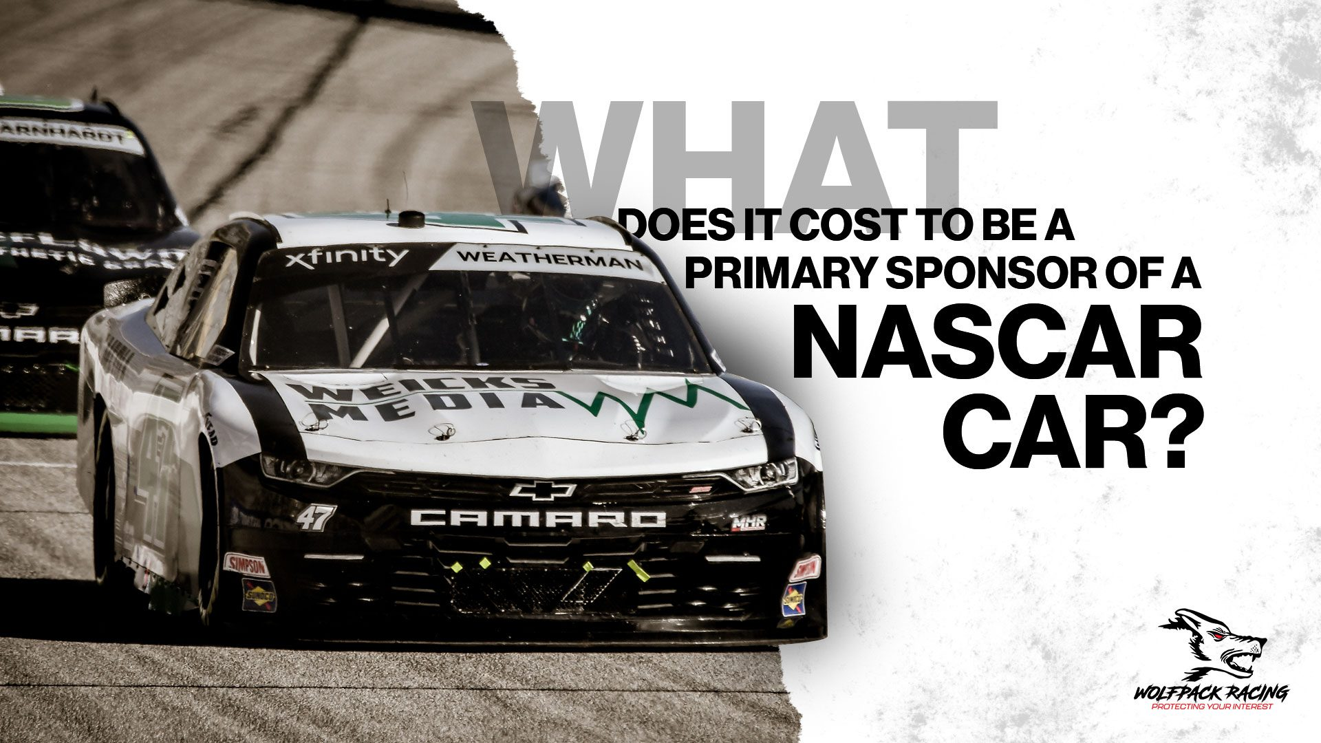 What does it cost to be a primary sponsor of a nascar car