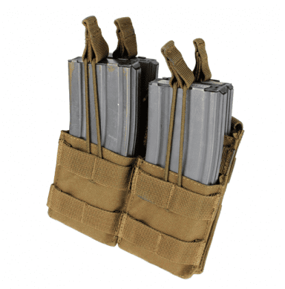 Condor-double-stacker-open-top-m4-mag-pouch-coyote